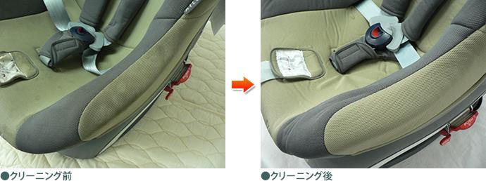 チャイルドシート ビフォーアフター(座席側面)