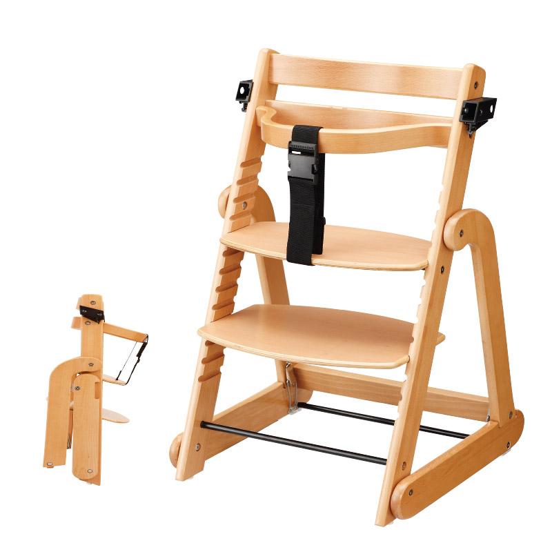 たためる木製スマートハイチェア
