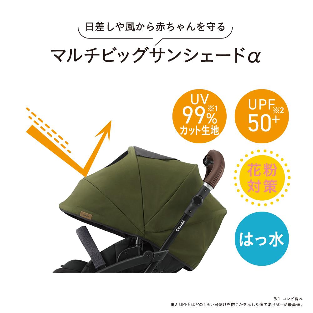 日差しや風から赤ちゃんを守るマルチビッグサンシェードα