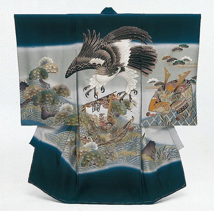 お宮参り衣装 【和装】B20-105(紺色)