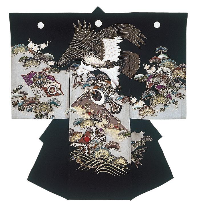 お宮参り衣装 【和装】C15-101(黒色)